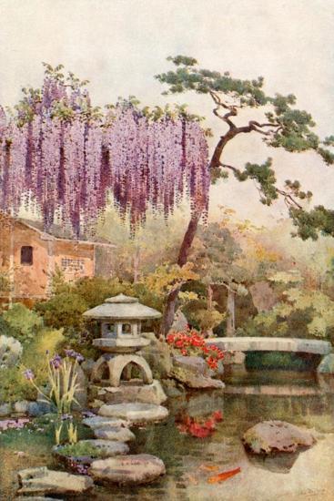 Wistaria in a Kyoto Garden-Ella Du Cane-Giclee Print