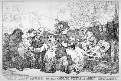 Wit's Last Stake..., 1784-Thomas Rowlandson-Giclee Print