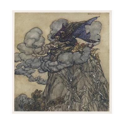 Witch Brews Storm-Arthur Rackham-Giclee Print
