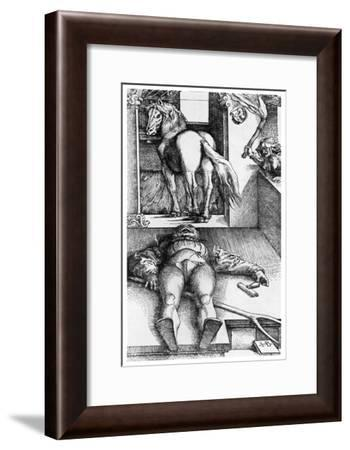 Witch Hunt: the Bewitched Groom, 16th Century-Hans Baldung-Framed Giclee Print