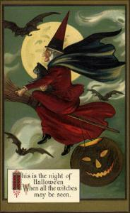 Witch on Her Broom, 1910
