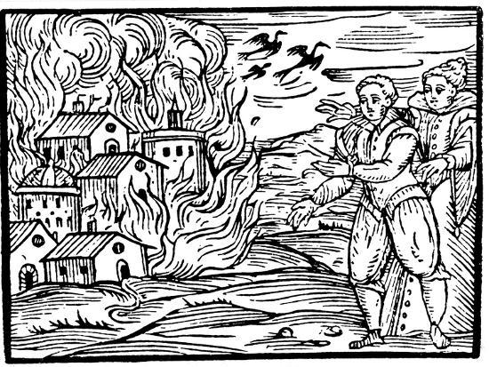 Witches Destroying a House by Fire - Swabia, 1533--Giclee Print