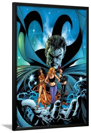 Witches No.3 Cover: Dr. Strange, Kale, Jennifer, Topaz and Satana-Mike Deodato-Lamina Framed Poster