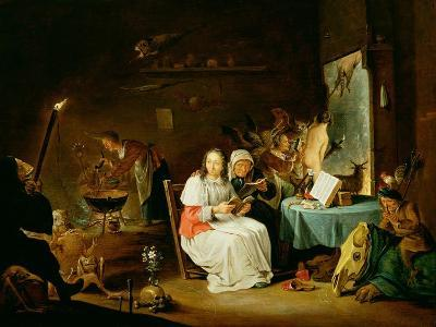 Witches Preparing for the Sabbat-David Teniers the Younger-Giclee Print