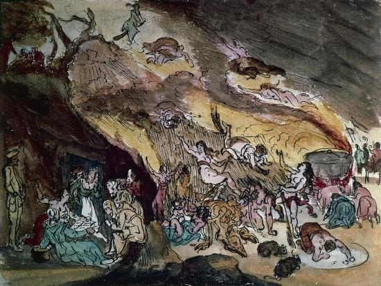 Witches' Sabbath, Drawing--Giclee Print