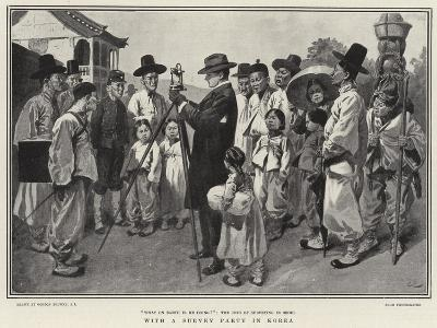 With a Survey Party in Korea-Gordon Frederick Browne-Giclee Print