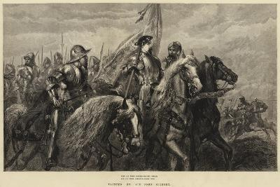 With All their Banners Bravely Spread, and All their Armour Flashing High-Sir John Gilbert-Giclee Print