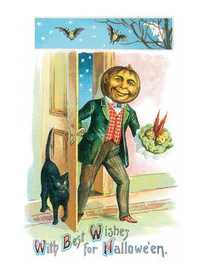 With Best Wishes for Halloween--Art Print