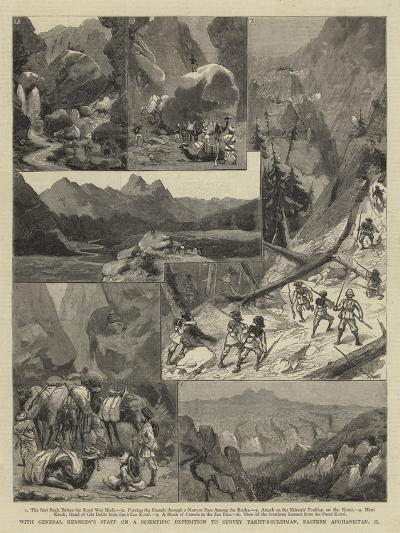With General Kennedy's Staff on a Scientific Expedition to Survey Takht-I-Suleiman--Giclee Print