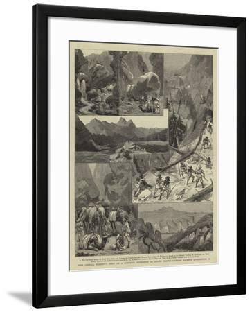 With General Kennedy's Staff on a Scientific Expedition to Survey Takht-I-Suleiman--Framed Giclee Print