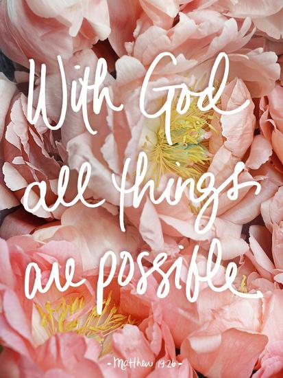 With God all things are possible-Sarah Gardner-Art Print