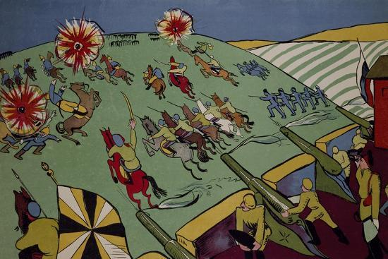 With Great Show of Force Powerful German Side Won Battle of Vilna--Giclee Print