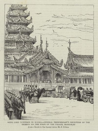 With Lord Dufferin in Burma-Frederic Villiers-Giclee Print