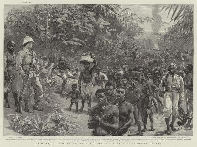 With Major Lothaire in the Congo State, a Convoy of Prisoners of War-William Small-Giclee Print