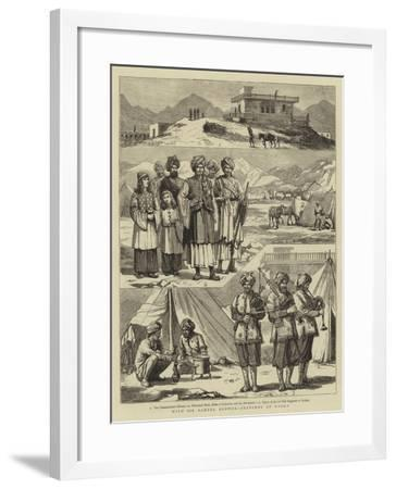 With Sir Samuel Browne, Sketches at Dakka--Framed Giclee Print