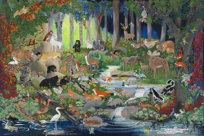 With St. Francis #1 - Forest Glade-Carol Salas-Giclee Print