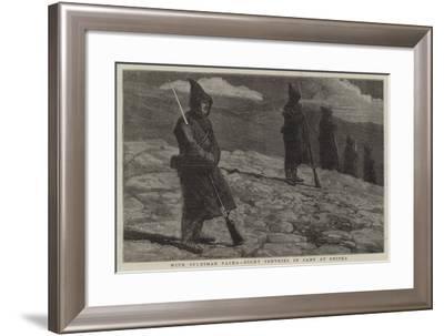 With Suleiman Pasha, Night Sentries in Camp at Shipka-Joseph Nash-Framed Giclee Print