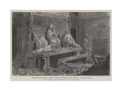 With the Allied Forces in China, a Ruined Joss-House and its Guardian, a Starving Priest-Johann Nepomuk Schonberg-Giclee Print
