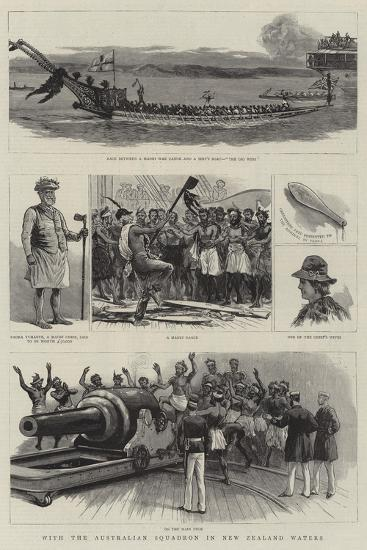 With the Australian Squadron in New Zealand Waters--Giclee Print