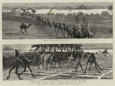 With the Camel Corps from Sarass to Dongola-Frederic Villiers-Giclee Print