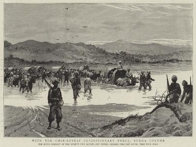 With the Chin-Lushai Expeditionary Force, Burma Column--Giclee Print