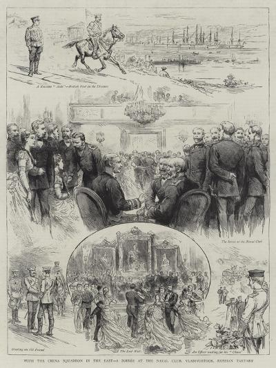 With the China Squadron in the East, a Soiree at the Naval Club, Vladivostock, Russian Tartary--Giclee Print