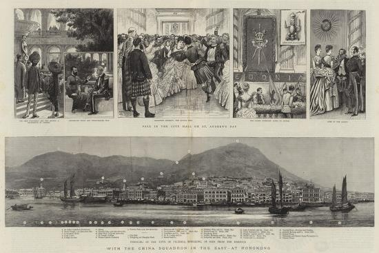 With the China Squadron in the East, at Hongkong--Giclee Print