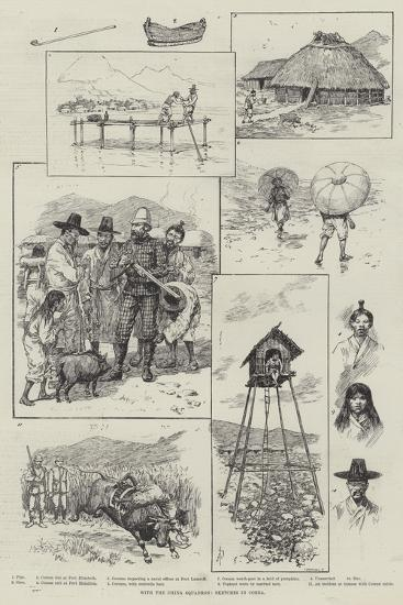 With the China Squadron, Sketches in Corea-Amedee Forestier-Giclee Print