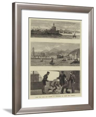 With the Duke and Duchess of Connaught on Board the Osborne-John Charles Dollman-Framed Giclee Print