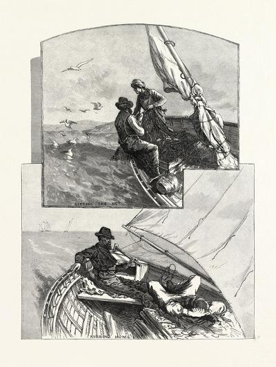 With the Fishermen on Lake Huron, Canada, Nineteenth Century--Giclee Print