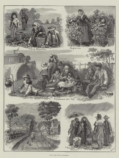 With the Fruit-Gatherers-Edmund Richard White-Giclee Print