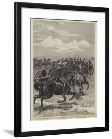 With the Honourable Artillery Company at Chatham During the Easter Manoevres--Framed Giclee Print