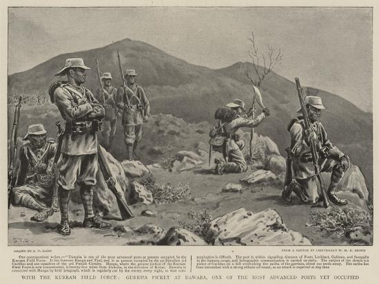 With the Kurram Field Force, Gurkha Picket at Dawaba, One of the Most Advanced Posts Yet Occupied-S^t^ Dadd-Giclee Print