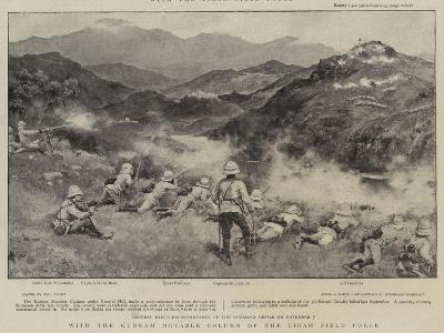 With the Kurram Movable Column of the Tirah Field Force-Walter Stanley Paget-Giclee Print