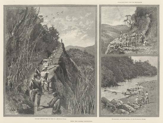 With the Lushai Expedition-Charles Auguste Loye-Giclee Print