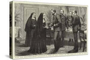 With the Mediterranean Squadron, a Visit of the Sisters of the Poor to a Man of War
