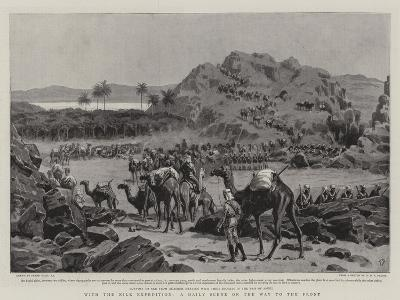 With the Nile Expedition, a Daily Scene on the Way to the Front-Frank Dadd-Giclee Print