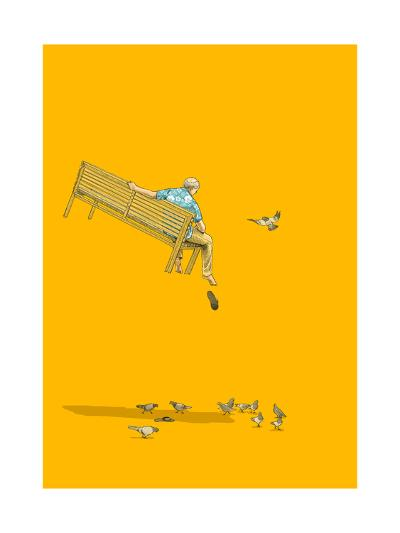 With the Pigeons-Jason Ratliff-Giclee Print
