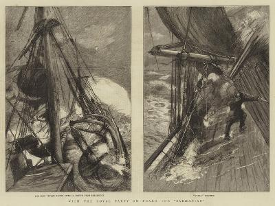 With the Royal Party on Board the Sarmatian-Sydney Prior Hall-Giclee Print