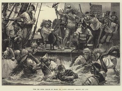 With the Royal Princes on Board the Flying Squadron, Crossing the Line-William Heysham Overend-Giclee Print