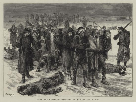 With the Russians, Prisoners of War on the March-Godefroy Durand-Giclee Print