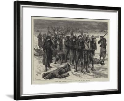 With the Russians, Prisoners of War on the March-Godefroy Durand-Framed Giclee Print