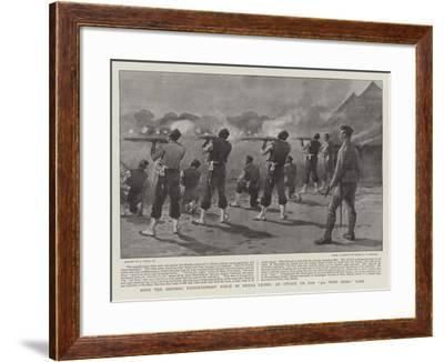 With the Sherbro Expeditionary Force in Sierra Leone, an Attack on the 3rd West India Camp-Joseph Nash-Framed Giclee Print