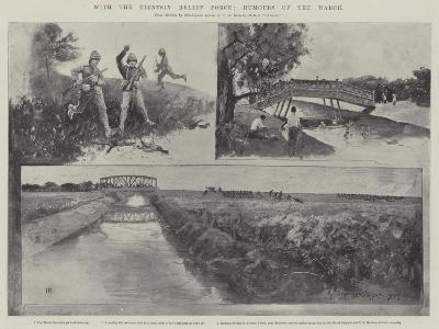 With the Tientsin Relief Force, Humours of the March-Henry Charles Seppings Wright-Giclee Print