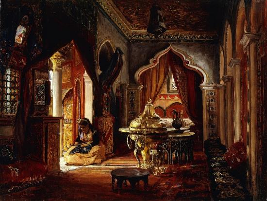 Within the Seraglio-Frederick Arthur Bridgman-Giclee Print