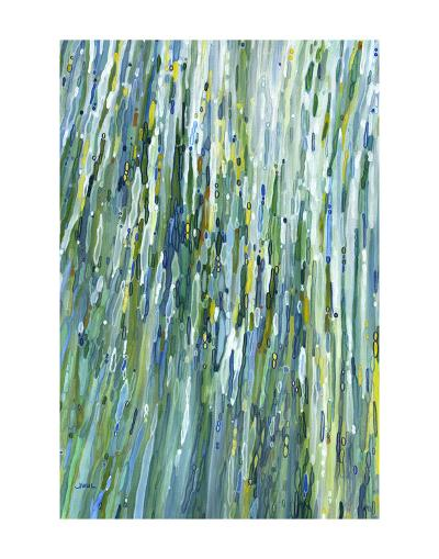Within the Waterfall-Margaret Juul-Art Print