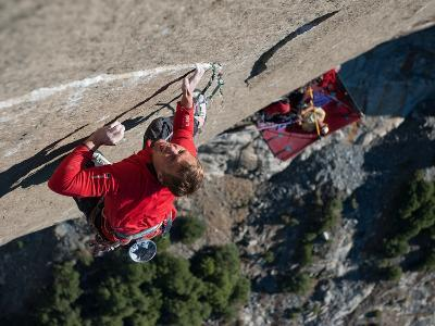 Without a Rope, a Climber Scales a Route on El Capitan-Jimmy Chin-Photographic Print