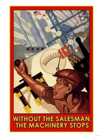 Without the Salesman--Art Print