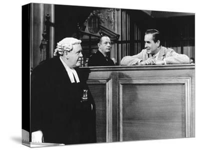 Witness For The Prosecution, Charles Laughton, Tyrone Power, 1957