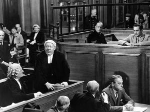 Witness For The Prosecution, John Williams, Charles Laughton, Henry Daniell, Tyrone Power, 1957